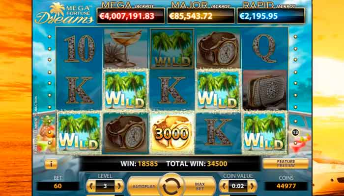 Mega Fortune Dreams Slot Jackpot