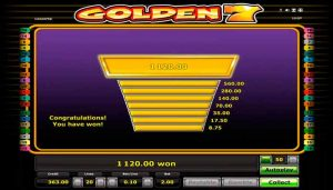 Golden Sevens Slot Jackpot